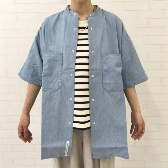 nanamica - Big Band Collar Wind H/S Shirt(SUGS069)