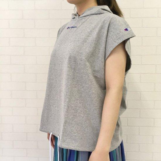 Champion - Tシャツ ウィメンズ フードスリーブレスTシャツ (CW-R302)