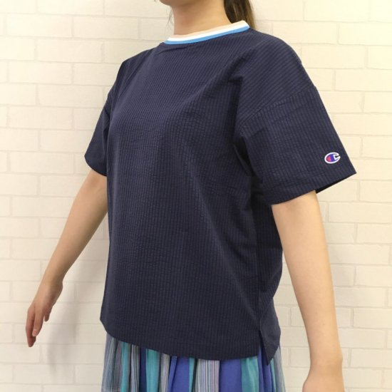 Championn - Tシャツ ウィメンズ ラインリブTシャツ (CW-R324)