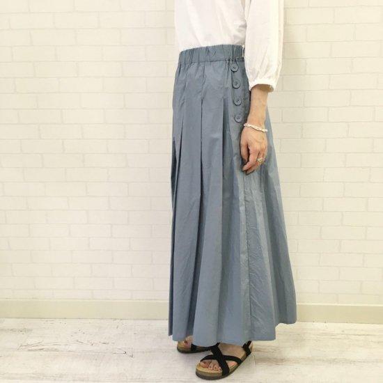 Le minor - 天日干しビンテージワッシャー 片ボタンプリーツスカート(EL7007)