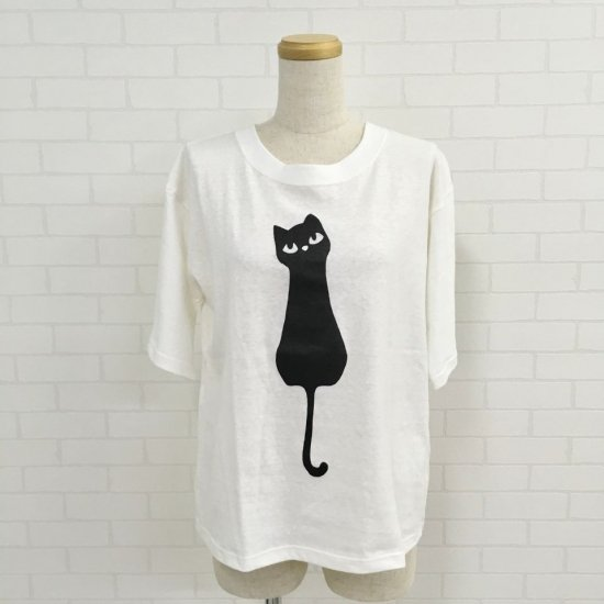 ALL HOURS - コットンスラブ CAT TEE