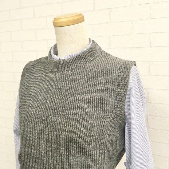 Vincent et Mireille - ブリティッシュウールのジャパンメイドの畦編みベスト
