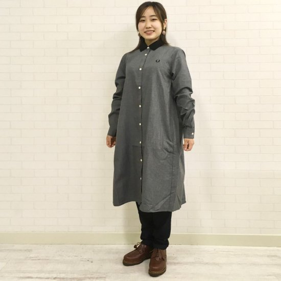 FRED PERRY - CONTRAST COLLAR SHIRT DRESS(F8583)