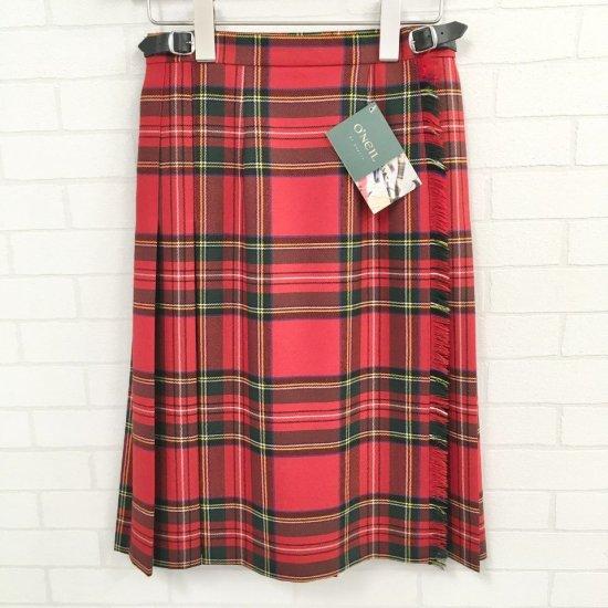 O'neil of Dublin - 両脇ベルト 後プリーツスカート (定番:59cm丈)その1正規取扱商品