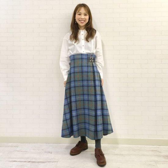 O'neil of Dublin - 左2本ベルト ハイウエストAラインスカート(レングス:85cm丈)正規取扱商品