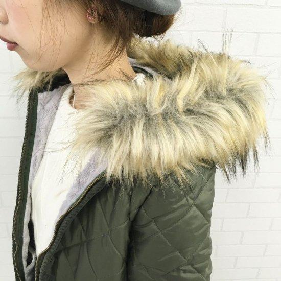 LAVENHAM - サイルハムファー ファーライニングファーフード付きミドル丈キルティングコート(SYLEHM FUR)正規取扱商品
