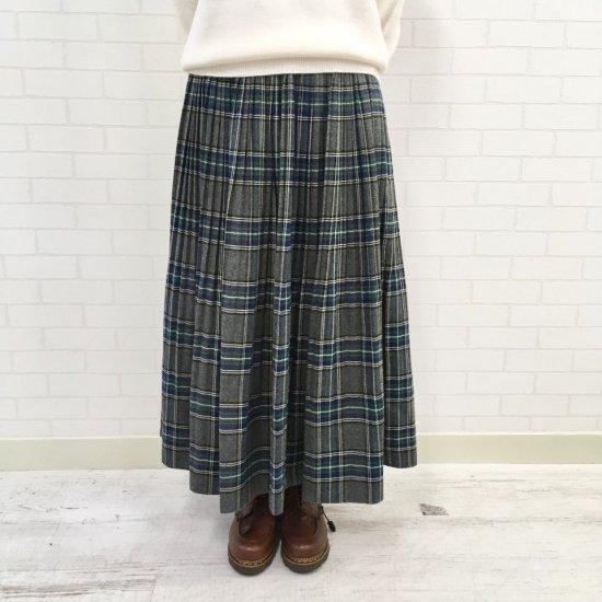 J.sloane - T/Rタータン起毛プリーツスカート