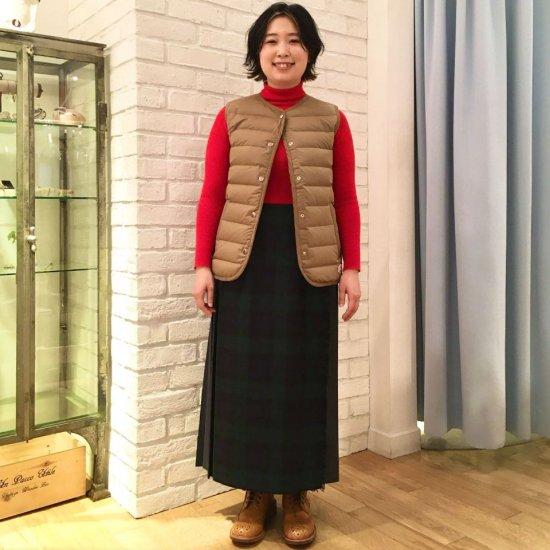 O'neil of Dublin - クレイジーキルト 両脇ベルト 後プリーツスカート (83cm丈)正規取扱商品