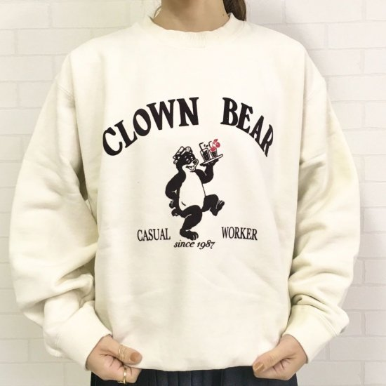 CHILD WOMAN - 裏毛CLOWN BEARプリントプルオーバー(正規取扱品)