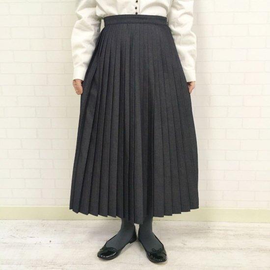 CHILD WOMAN - ライトオンスデニム プリーツスカート(正規取扱品)