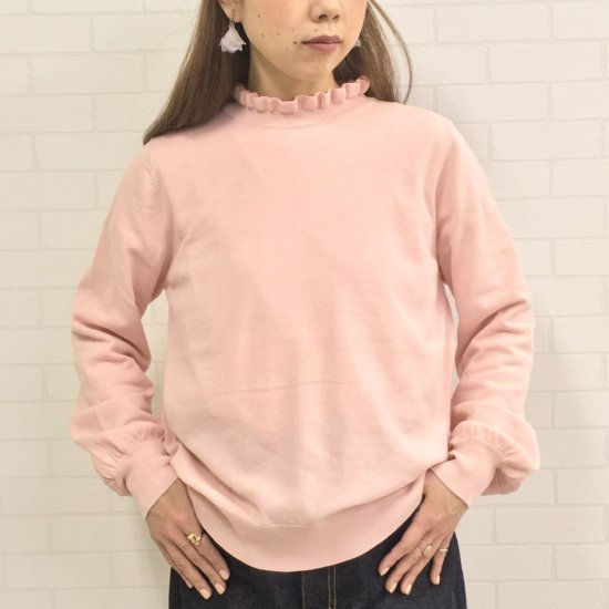 CHILD WOMAN - 抗菌防臭加工 強撚綿40/2天竺フリル衿プルオーバー(正規取扱品)