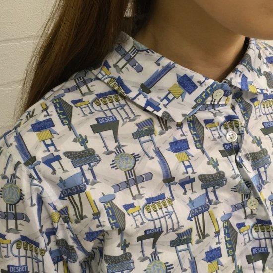 Parkes - タナローン レギュラーカラー7分袖 背中タックシャツ (リバティコレクション)