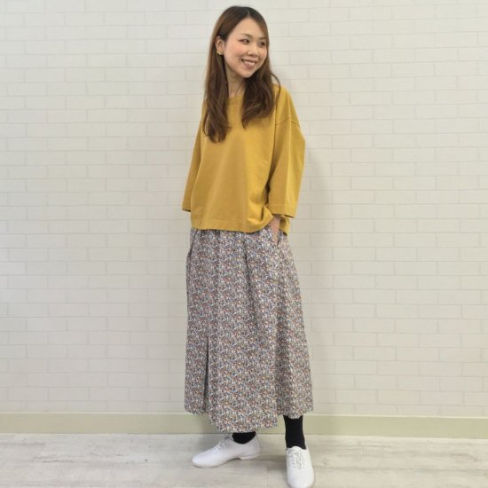 J.sloane - ウエスト総ゴム 73cm丈プリーツスカート(リバティコレクション)