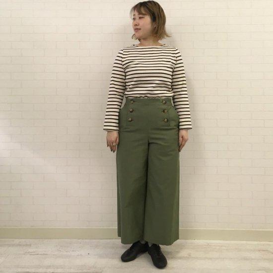 Le minor - ムラ糸バックサテン ストレッチマリンパンツ(EL36830A)