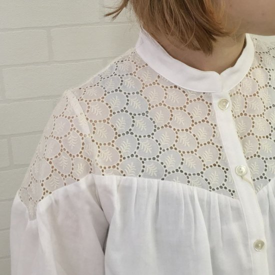 SARAHWEAR - Embroidery Cotton Lawn Smoc Blouse (C52705)