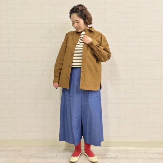 Le minor - ムラ糸バックサテンストレッチ CPOシャツ(EL19108)