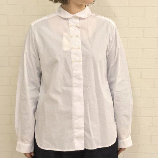 CHILD WOMAN - 無地/ギンガムチェック Wボタンシャツ(0101BL010192)(正規取扱品)