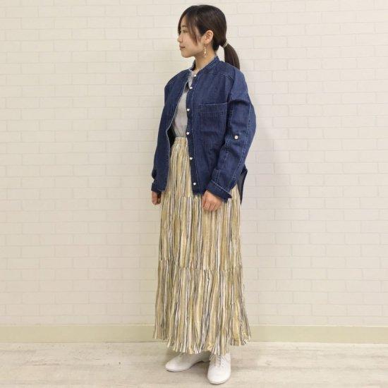 Rockmount - リネンランダムストライプ 3段ティアードスカート(正規取扱商品)