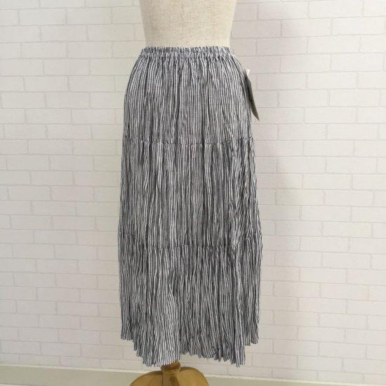 Rockmount - リネン ブラックヒッコリー 3段ティアードスカート(正規取扱商品)