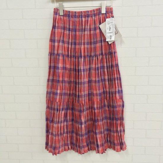 Rockmount - リネン マドラスチェック 3段ティアードスカート(正規取扱商品)