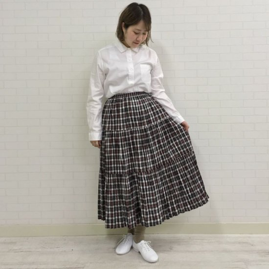 Rockmount - コットンブラウンチェック 3段ティアードスカート(正規取扱商品)