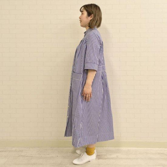 SARAHWEAR - Mao Collar Dress STRIPE (C71104)