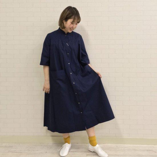 SARAHWEAR - Cotton Broad Mao Collar Dress(C71103)