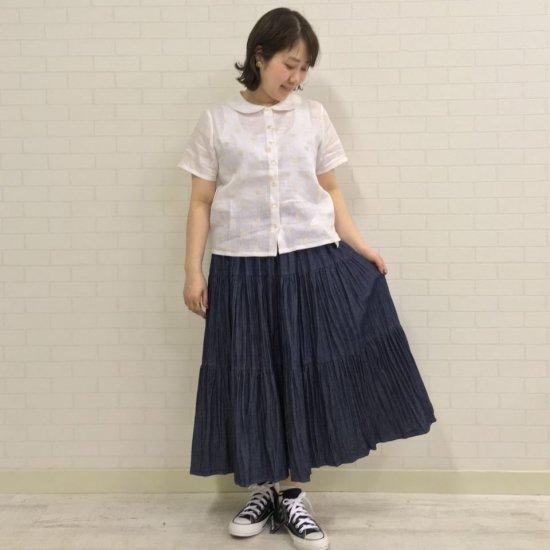 SARAHWEAR - Embroidery Linen 丸衿ブラウス(C52703)