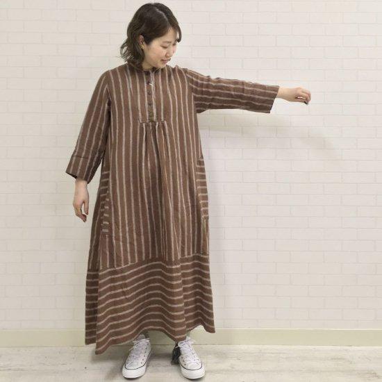 SARAHWEAR - TOMOYO リネンストライプドレス (C71105)