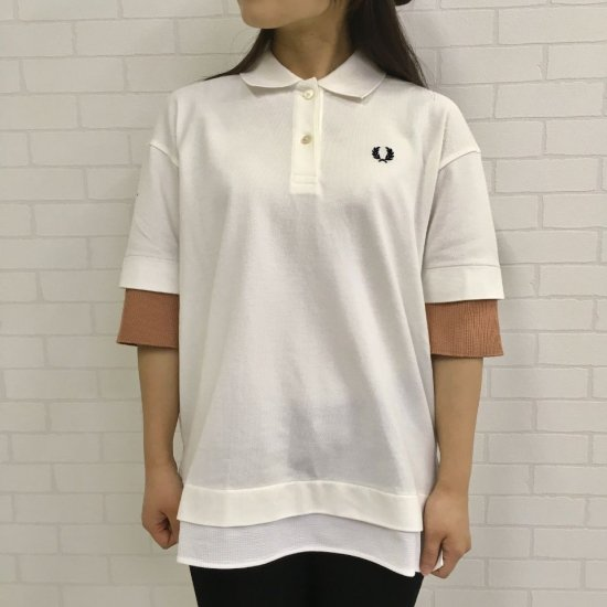 FRED PERRY - LAYERED PIQUE SHIRT(F5389)正規取扱商品