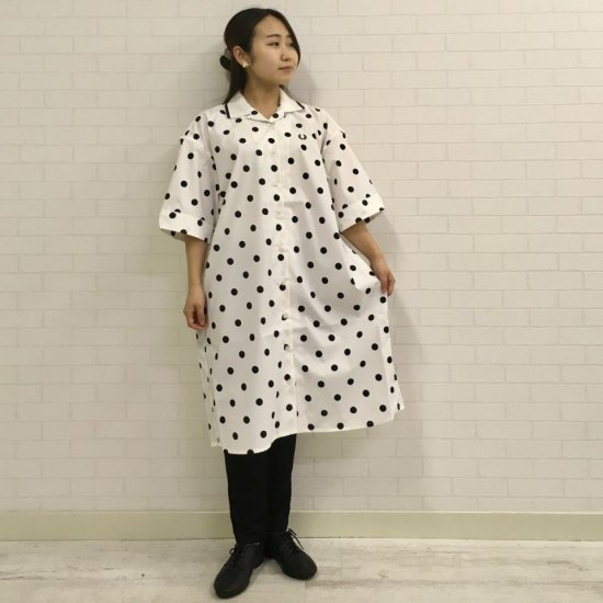FRED PERRY - DOT REVERE SHIRT DRESS(F8609)正規取扱商品
