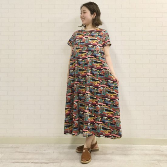 SARAHWEAR - Peaceful Bloom Dress Libery Dress(C71098)