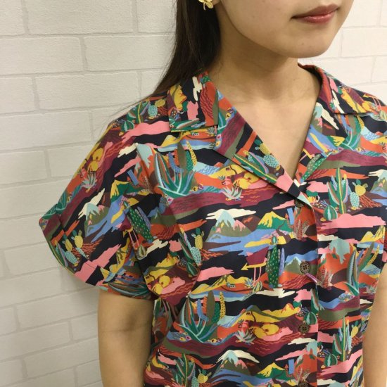 SARAHWEAR - Nirvana Liberty Open Collar Shirts(C52688)