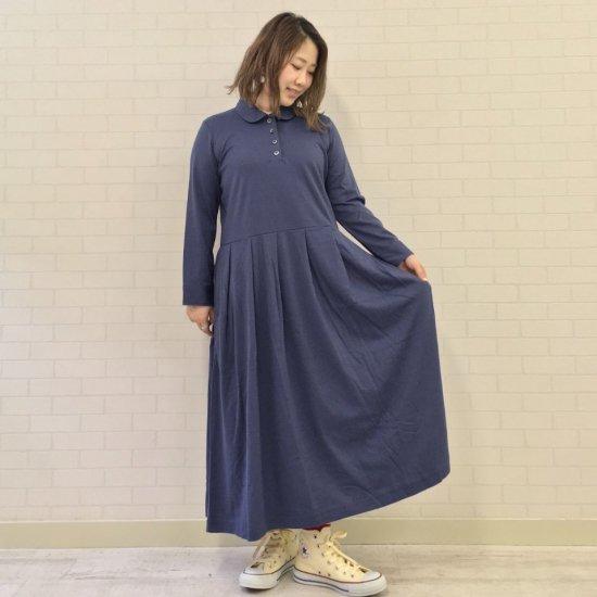 SARAHWEAR - Mulch-Effect Jersey Round Collar Dress(C91274)