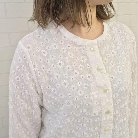SARAHWEAR - Embroidery Gauze カーディガン(C52719)
