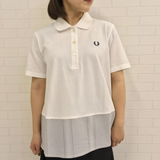 FRED PERRY - MIX PANELLED PIQUE SHIRT(F5390)正規取扱商品