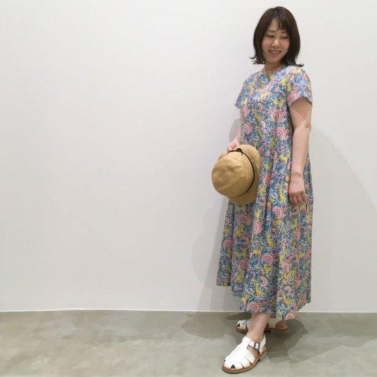 SARAHWEAR - ハイウエスト リバティ切替ドレス(C71121)