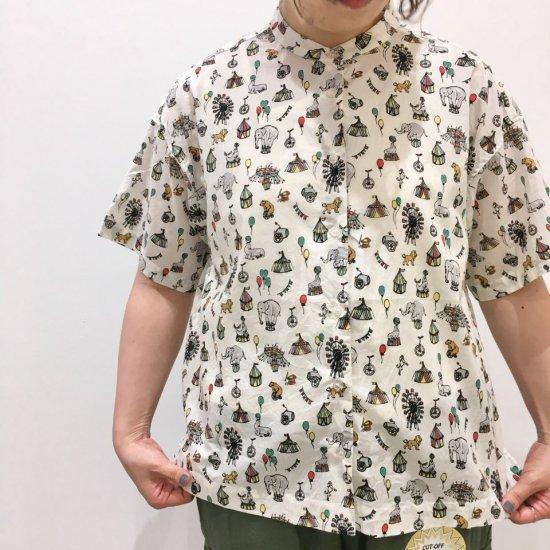 Parkes - 60ローン サーカス柄 5分袖シャツ