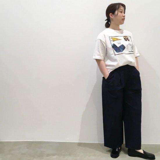 Le minor - 綿麻 ラミーウォッシュド ウエストギャザー クラシックパンツ (EL16119 )