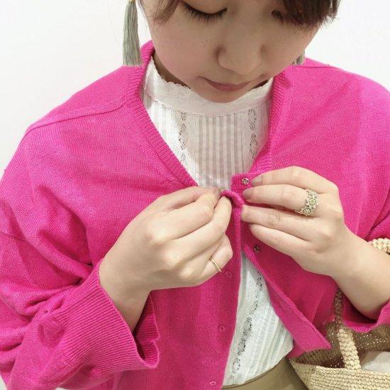 PONT DE CHALONS - リネン刺繍釦カーディガン