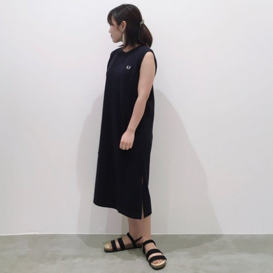 FRED PERRY - PIQUE RINGER SLEEVELESS DRESS(F8612)