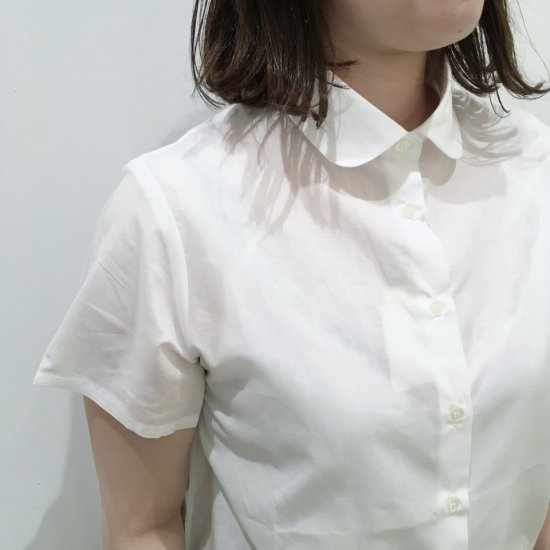 Parkes - 60ローン チビ襟半袖シャツ(無地、ストライプ、ギンガムチェック)