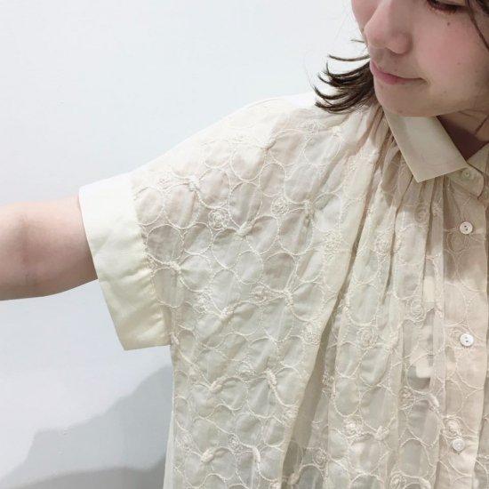 J.sloane - ボイルシュリンクレース フレンチスリーブシャツ