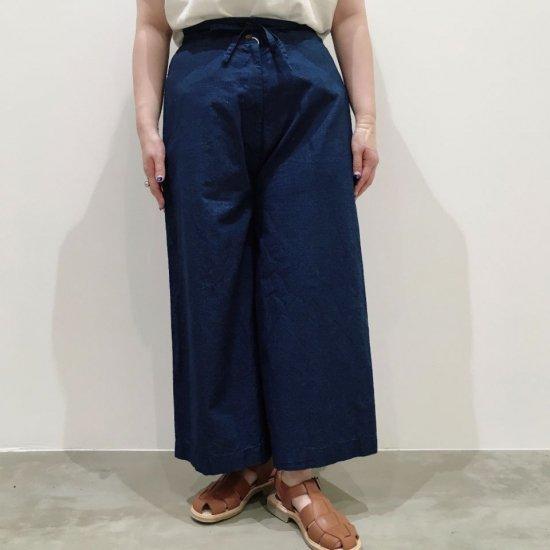SARAHWEAR - Indigo Chambray Wide Pants(C30423)