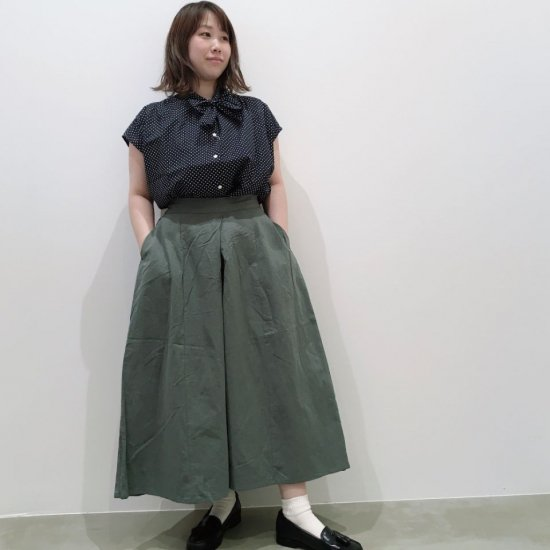 Sheth - 綿麻スカート見えのイージーワイドパンツ(1213052)