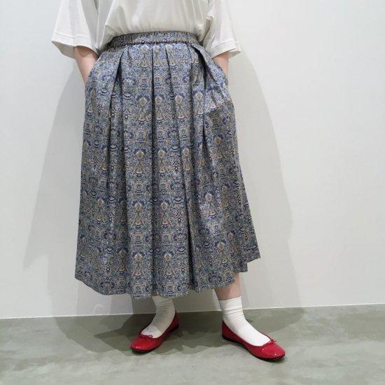 J.sloane - オーガニックコットンレーヨン ギャザープリーツスカート