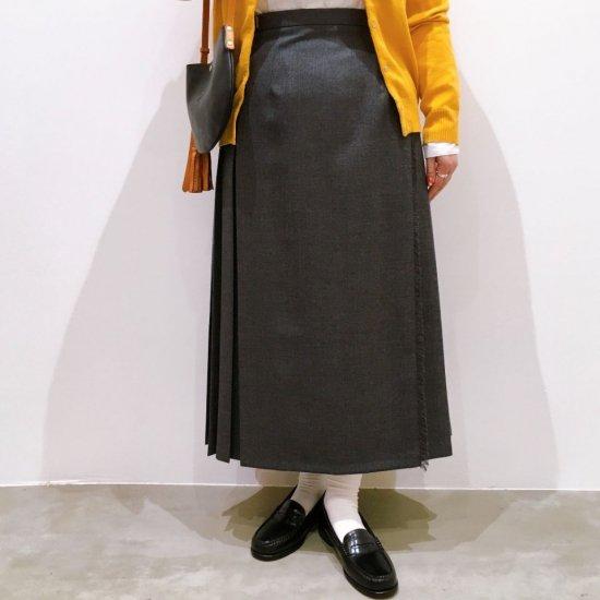 O'neil of Dublin - 両脇ベルト 後プリーツスカート(無地83cm丈)正規取扱商品