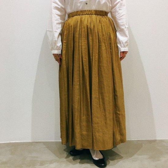 DONEEYU - ヴィンテージサテン マキシレングスギャザースカート