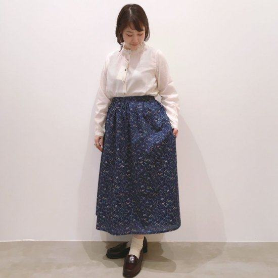 Parkes - ウエストギャザーインゴムのスカート(リバティコレクション)