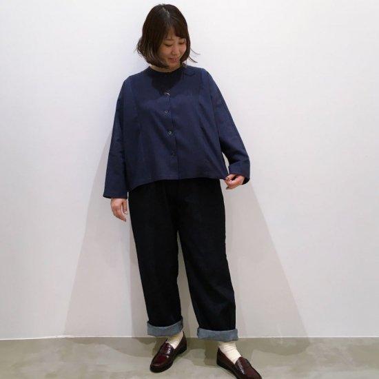 SARAHWEAR - コットンウールストライプシャツ(C52734)